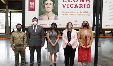 inauguración de exposición de Leona Vicario