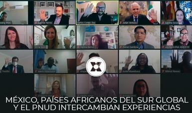 """El PNUD en México y la AMEXCID realizaron el seminario virtual """"Construcción de Marcos Institucionales para la Cooperación Sur-Sur"""""""