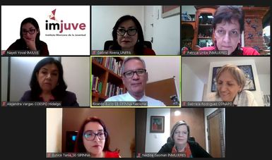 Funcionariado público en reunión virtual