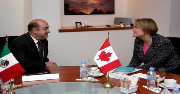 Excelentísima embajadora de Canadá en México, Sara Hradecky