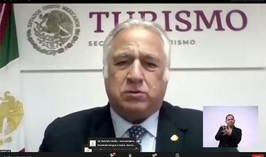 El secretario de Turismo del Gobierno Federal, Miguel Torruco Marqués, encabezó la inauguración del Primer Tianguis Turístico Digital.