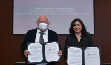 FUNCIÓN PÚBLICA Y COFEPRIS COLABORAN PARA RESCATAR DE INTERESES PRIVADOS EL SECTOR SALUD