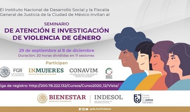 Banner informativo del Seminario violencia de género.