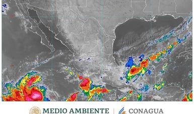 Imagen del satélite GOES 16 sobre México.