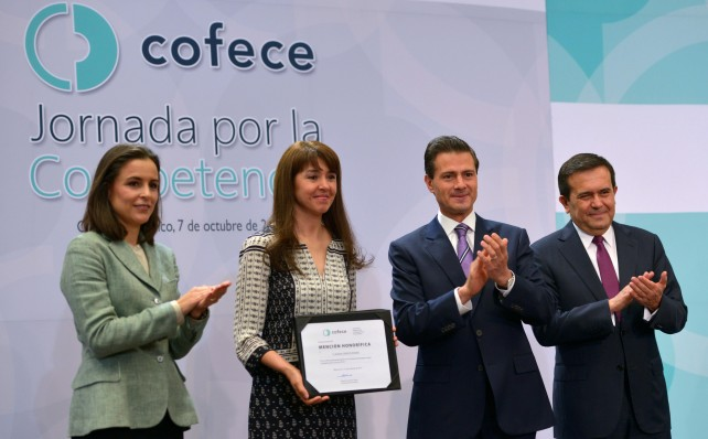 El Presidente Peña Nieto encabezó la Jornada por la Competencia.