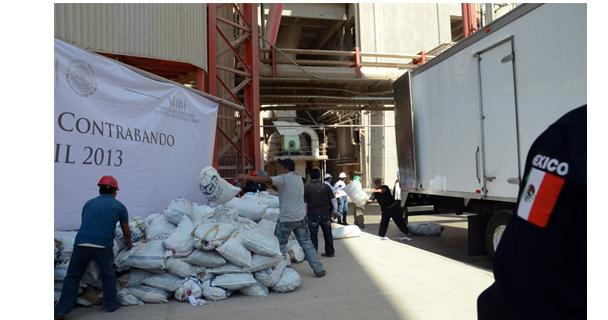 La PGR destruye más de 60 toneladas de ropa usada
