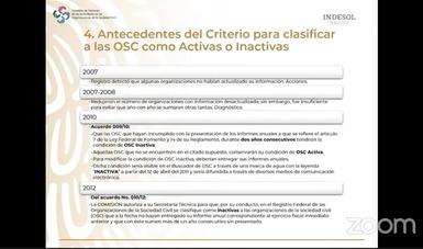 Presentan a OSC tipos de clasificación de actores sociales