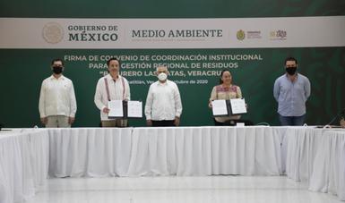Autoridades federal, estatal y municipales sientan las bases para el saneamiento de Las Matas, en Veracruz