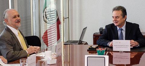 El Secretario de Energía, Pedro Joaquín Coldwell, se reunió con el Premio Nobel de Química 1995, Mario Molina