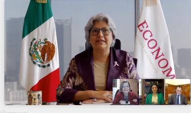 Versión del mensaje inaugural de la secretaria de Economía, Graciela Márquez Colín, con motivo de la 1ª. E-Rueda Virtual de Negocios para Empresarias Mexicanas Mujer Exporta MX.