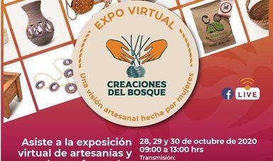 Expo Virtual Creaciones del Bosque. Una visión artesanal hecha por mujeres.