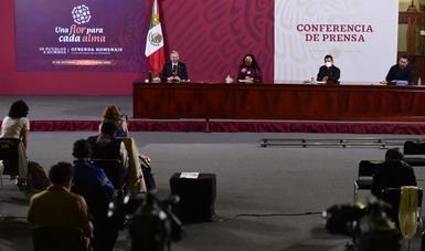 Participa la secretaria de Cultura del Gobierno de México, Alejandra Frausto Guerrero, en la conferencia de prensa vespertina. Invita a la población a conmemorar el Día de Muertos desde casa, para preservar la salud.