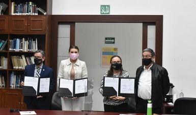 El Instituto Nacional de Ecología y Cambio Climático y el Ayuntamiento de Mexicali firman convenio de colaboración para coordinar esfuerzos en temas de mitigación y adaptación al cambio climático, así cómo sobre calidad del aire.