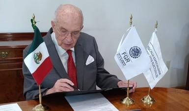 Comunicado FGR 352/20. Firma FEDE convenio de colaboración con nueve fiscalías del país