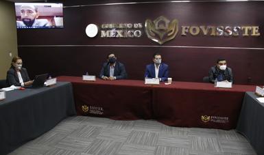 El Vocal Ejecutivo del FOVISSSTE, Agustín Gustavo Rodríguez López, presenció virtualmente el acto protocolario del cierre del proceso.