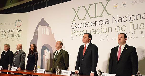 Conferencia de prensa después de la clausura de la XXIX Conferencia Nacional de Procuración de Justicia.
