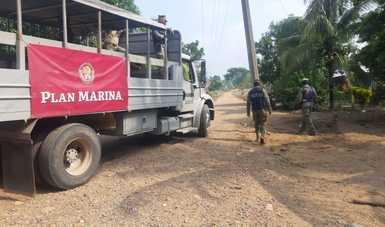 Personal Naval en acciones de Plan Marina en el estado de Chiapas
