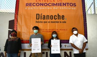 Entrega de reconocimientos a participantes del concurso nacional Díanoche.