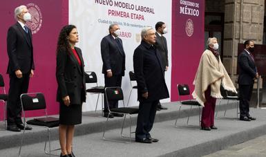 Hoy sentamos las bases de justicia y democracia en materia laboral, afirma presidente López Obrador