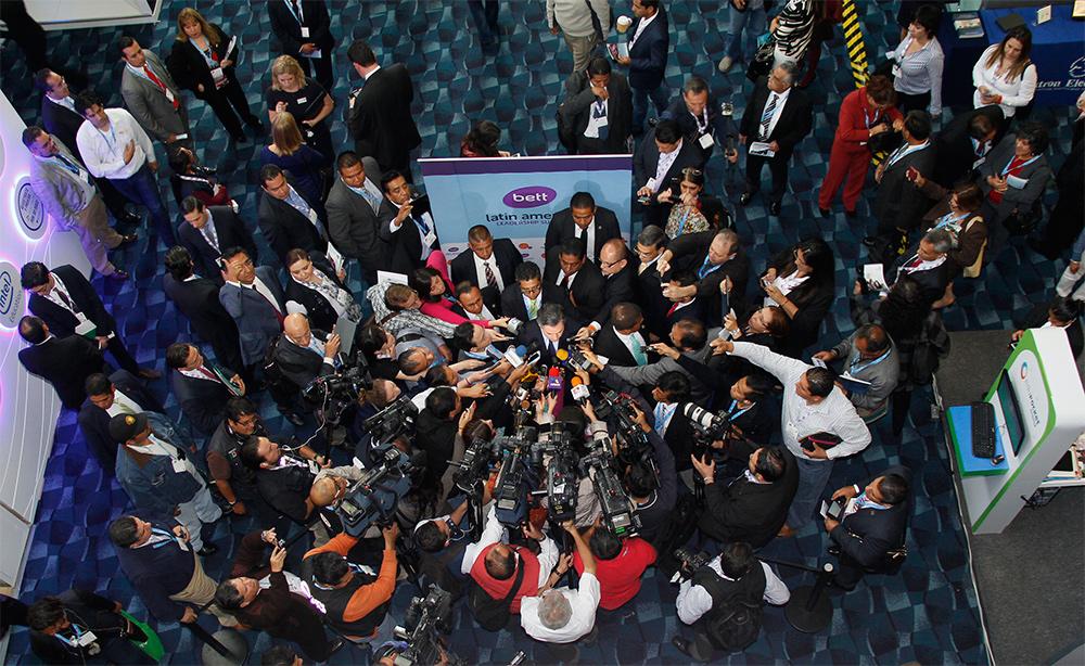 Entrevista al secretario de Educación Pública, Aurelio Nuño Mayer, al término de la Inauguración de la Bett Latin American Leadership Summit