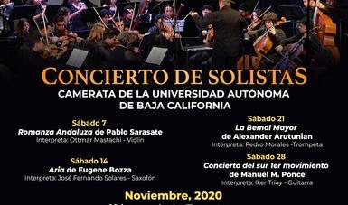 Este sábado  concluye el ciclo de Solistas de la Camerata UABC transmitido por el Cecut.