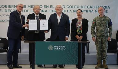 Semarnat, Agricultura y Marina firmaron el convenio de acciones para el Alto Golfo de California.