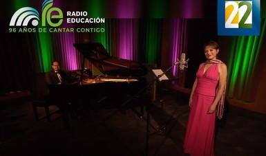 La soprano Lourdes Ambriz estará acompañada al piano por el maestro Sergio Vázquez, juntos interpretarán un programa conformado por música mexicana.