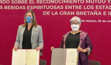 México y Reino Unido firman Acuerdo para el reconocimiento y protección de las denominaciones de bebidas espirituosas