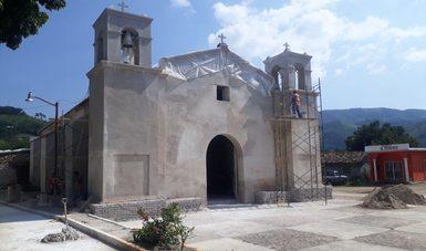 El Templo de San Miguel Arcángel, en la región oaxaqueña de los Chimalapas, ha concluido su restauración arquitectónica.