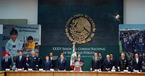 Intervención del Procurador durante la XXXIV Sesión del Consejo Nacional de Seguridad Pública