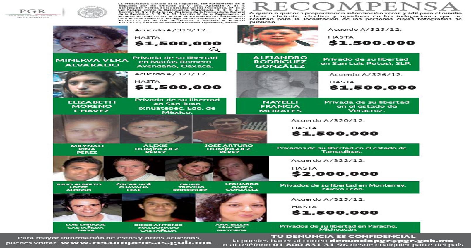 Refuerza PGR la búsqueda de personas desaparecidas