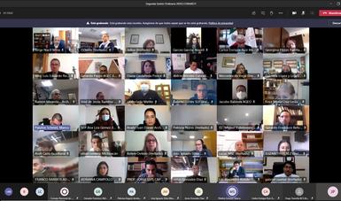 Captura de pantalla de la videoconferencia mediante la cual se desahogó la Segunda Sesión Ordinaria 2020 del CONARCH
