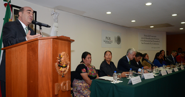 Mensaje del Procurador Jesús Murillo Karam, durante la firma de convenio