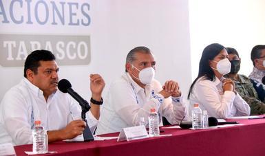 Informe sobre la entrega de apoyos en Tabasco.