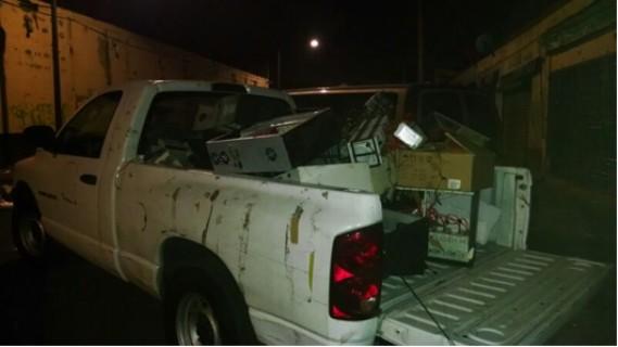 Se aseguraron 4,919 quemadores y más de 73 mil objetos entre videogramas, portadillas, fonogramas, CD virgen y estuches.
