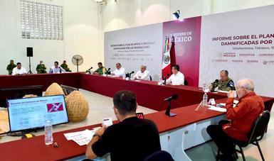 Informe sobre el Plan de Apoyo a Personas Damnificadas por las Inundaciones en Tabasco y Chiapas