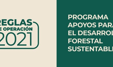 Las Reglas de Operación del Programa Apoyos para el DesarrolloForestal Sustentable se publicaron en el DOF.