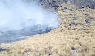 Incendio en los alrededor del Volcán Iztaccíhuatl