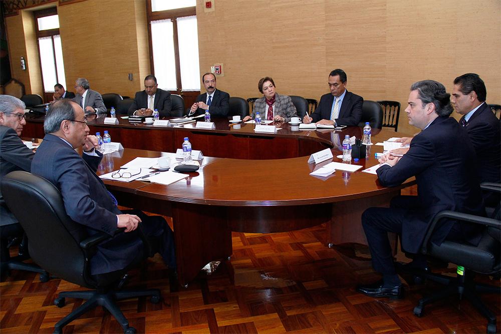 Nuño Mayer y Aureoles Conejo acordaron mantener una estrecha colaboración, para avanzar en la implementación de la reforma establecida en la Constitución