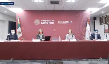 Mensaje de la secretaria de Economía, Tatiana Clouthier Carrillo, en reunión con reporteros de la fuente