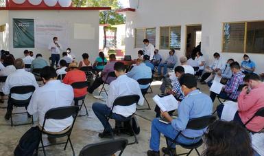 La información sobre el Tren Maya se entrega a las comunidades.