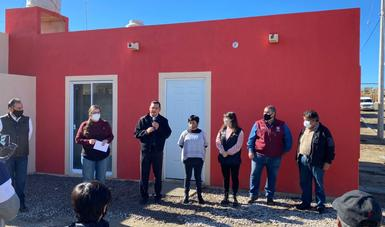 Entrega de viviendas en Lomas de Rubí, en Tijuana, Baja California.