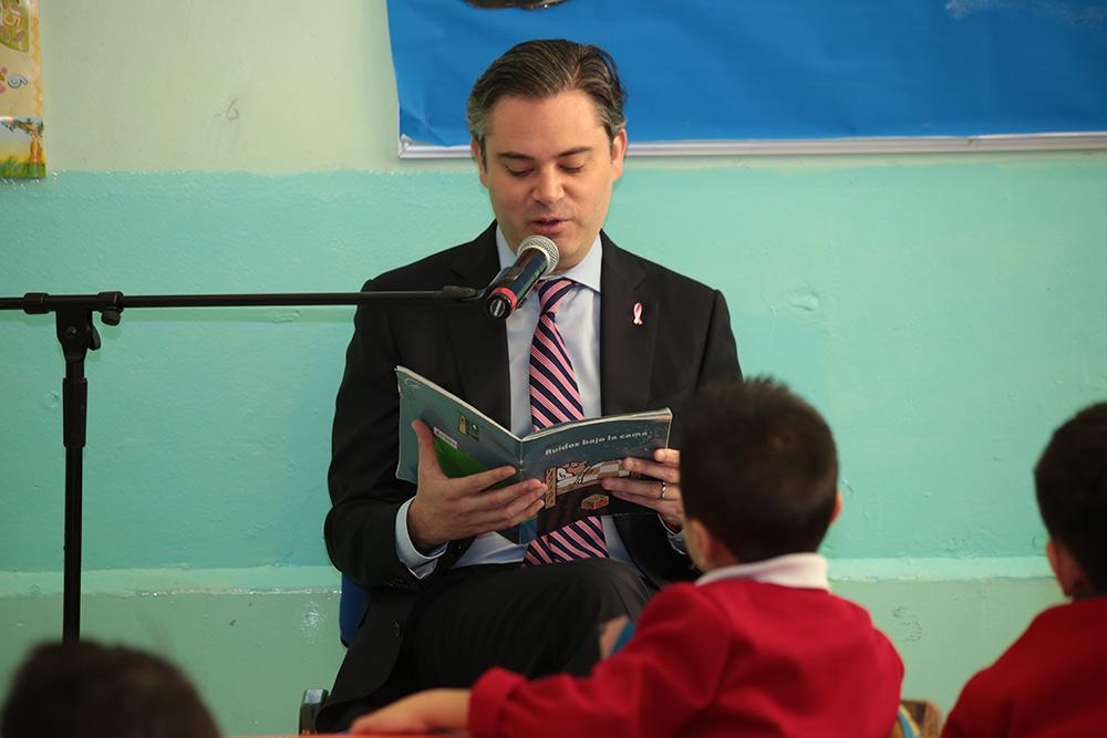 Mensaje del secretario de Educación Pública, Aurelio Nuño Mayer, durante su visita a la Escuela Primaria Centro Urbano Presidente Alemán
