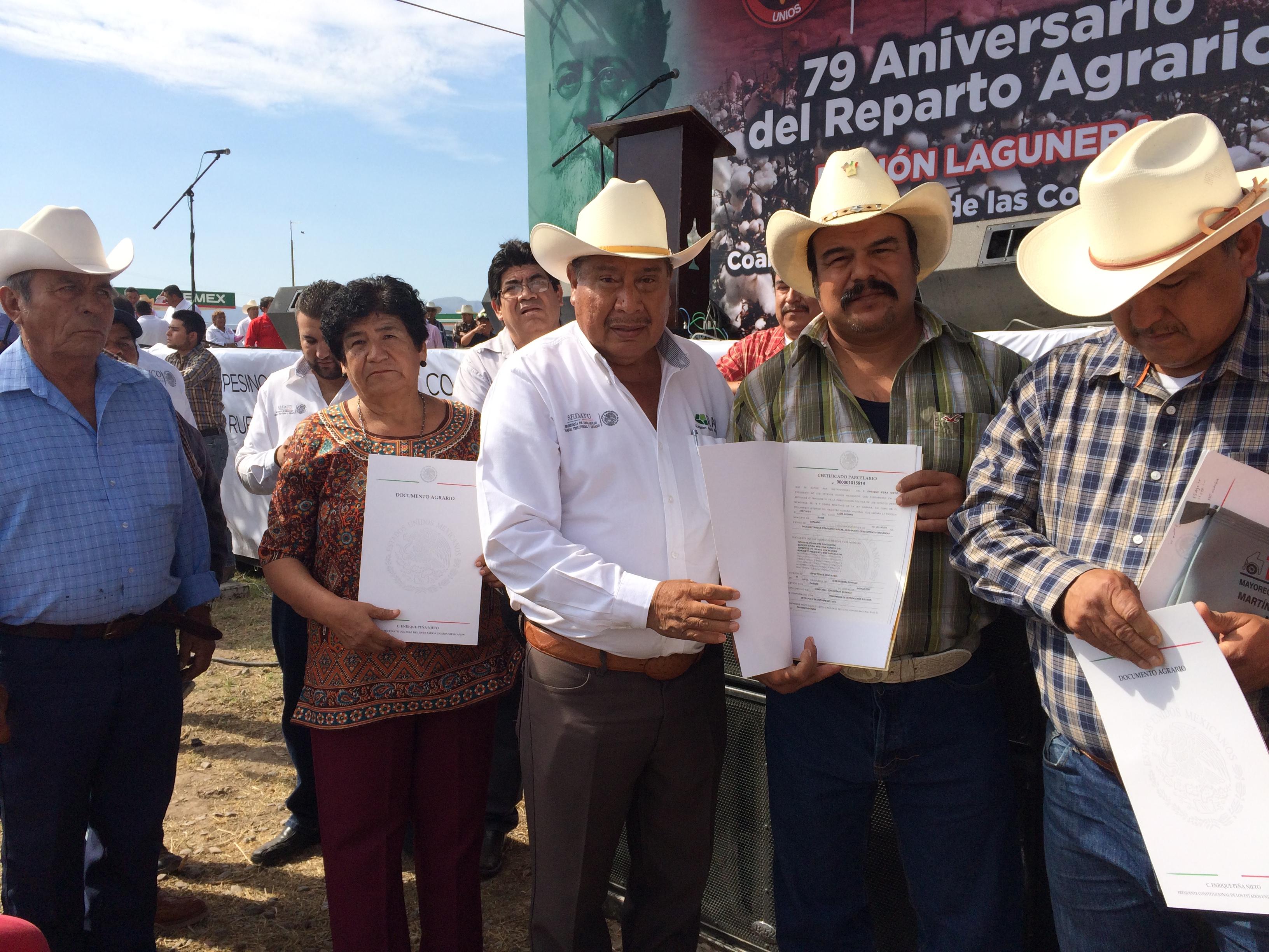 La SEDATU, mediante el RAN, beneficia a más de dos mil campesinos en la Comarca Lagunera.