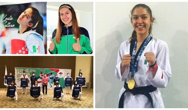 Leslie Xcaret Soltero García, encabeza al equipo de 16 atletas que quedaron seleccionados tras concluir el Selectivo Nacional de Taekwondo