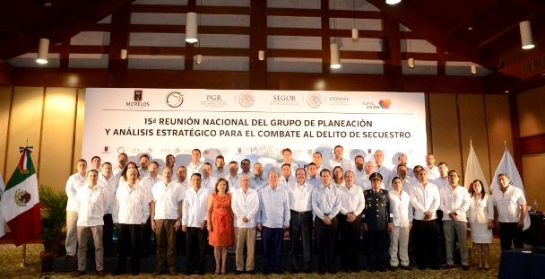 Se inaugura la 15a Reunion Nacional de titulares de Unidades de Planeacion y Análisis Estrategico para el Combate al Delito de Secuestro en el país