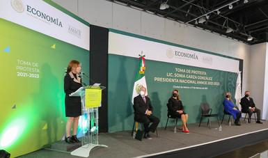 Mensaje de la secretaria de Economía en la toma de protesta de Sonia Garza González como presidenta nacional de la AMMJE 2021-2023