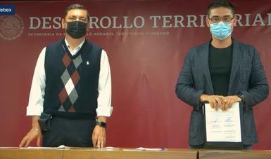 Daniel Fajardo Ortiz, subsecretario de Desarrollo Urbano y Vivienda y Román Meyer Falcón, secretario de Desarrollo Agrario, Territorial y Urbano.