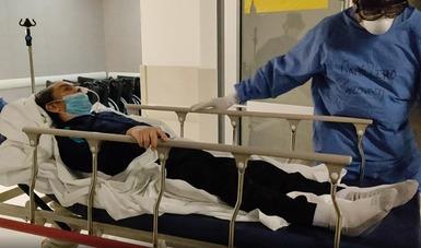 """Realiza el Instituto cirugía cerebral a paciente con COVID-19 en Hospital General """"Tláhuac"""""""