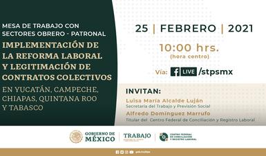 STPS realizará encuentros virtuales y regionales para impulsar legitimaciones de contratos colectivos de trabajo